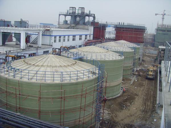 GRP storage tank